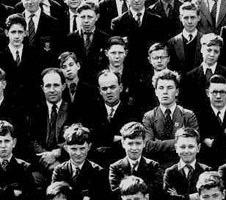 Dad (centre of picture) at Stationers School